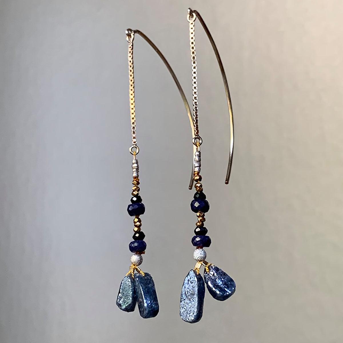 Song Sung Blue kyanite and sapphire ear