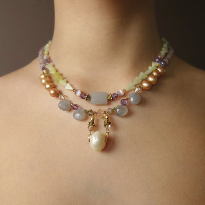 The Empress's Collar multi gem necklace