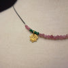 She Let Herself be Tended to: tourmaline/malachite necklace
