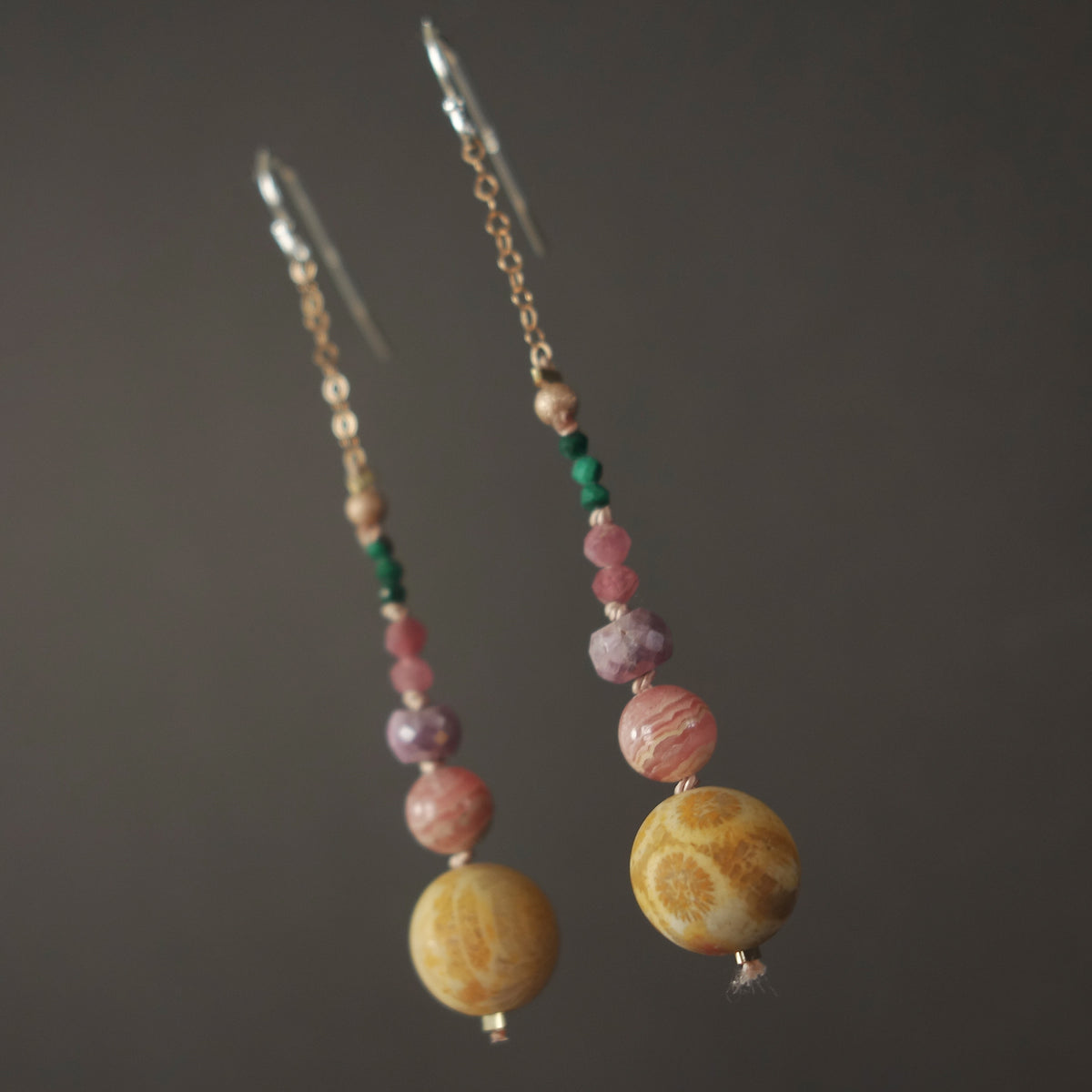 She Sewed Seeds of Kindness: fossilized agate/rhodocrosite ear