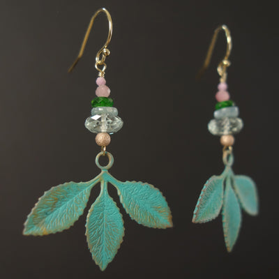 A Simple I love you will do: presiolite and kyanite earring
