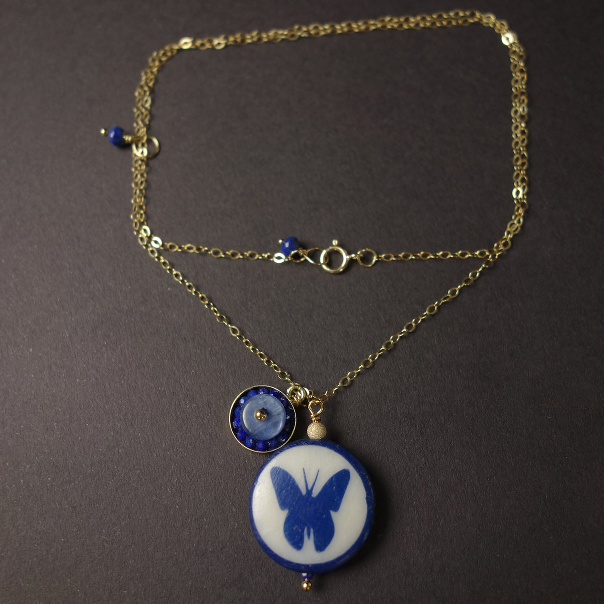 She Shows her true colors: butterfly/mosaic necklace