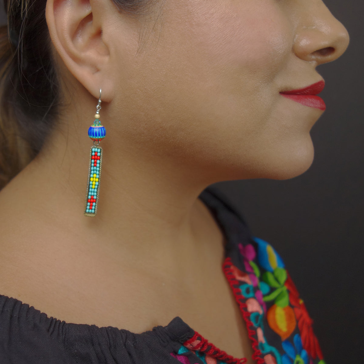 Navajo cruces mosaic earring