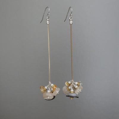 Jingle Jangle Jingle Topaz cluster earring