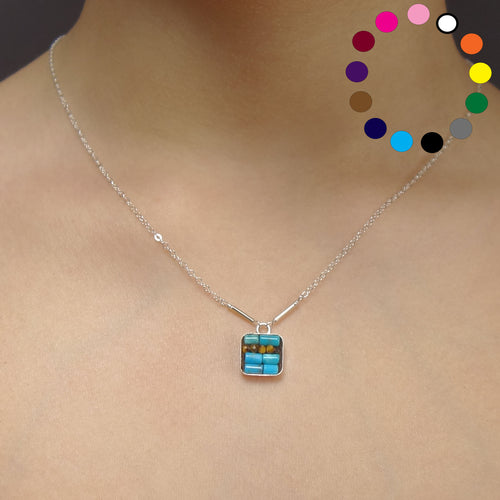 Single Til We're Together Moxie square necklace: tell your 2020 story
