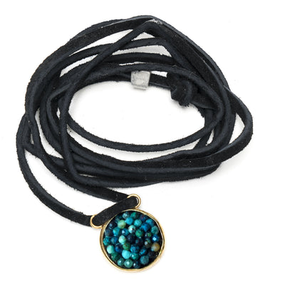 Turquoise Iconic Mosaic Necklace/Wrap Bracelet