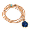 Lapis Lazuli Iconic Mosaic Wrap Bracelet and/or Necklace