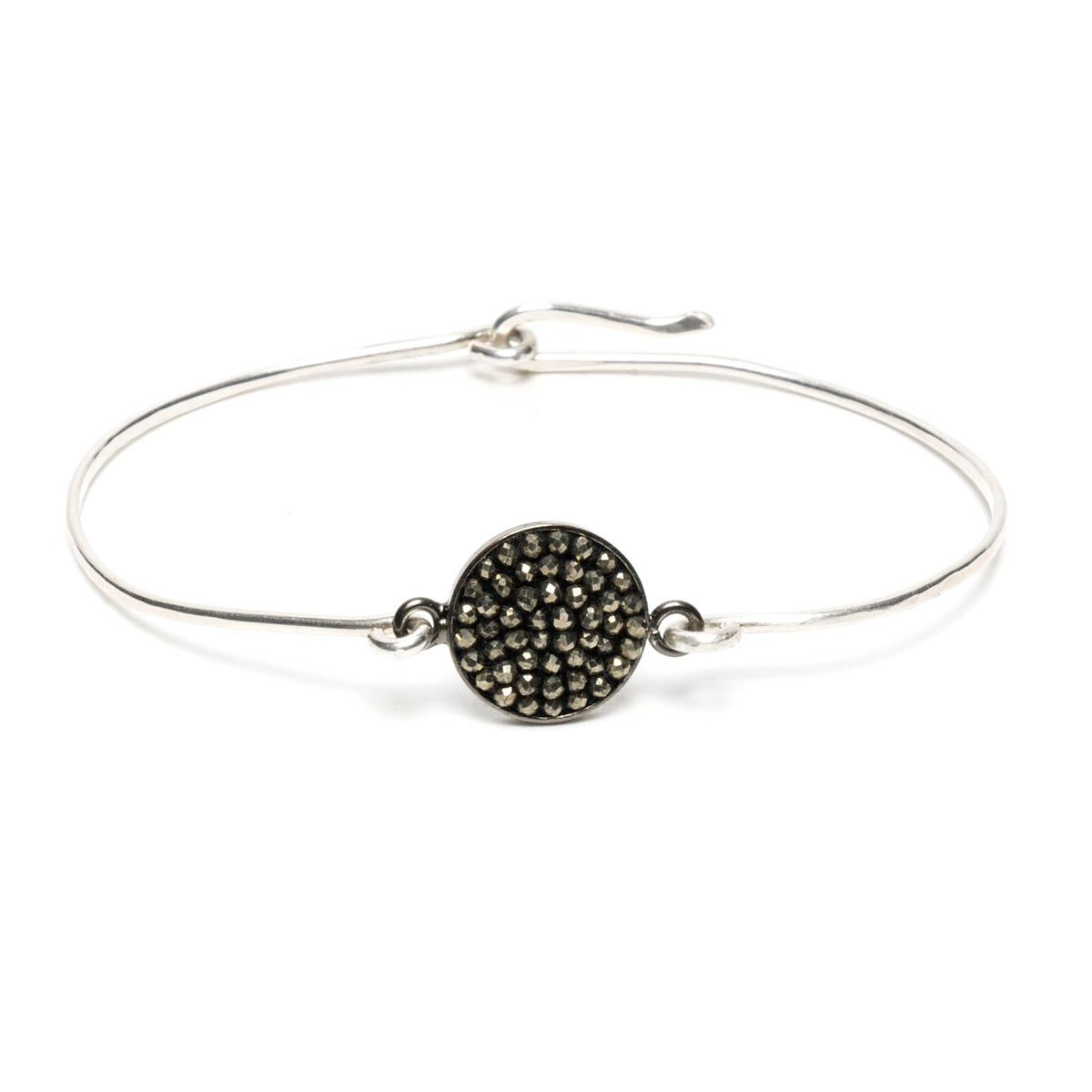 Pyrite Iconic Mosaic Bangle Bracelet