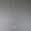 Diamond and Pink Sapphire mosaic necklace on Rose Gold and Silver