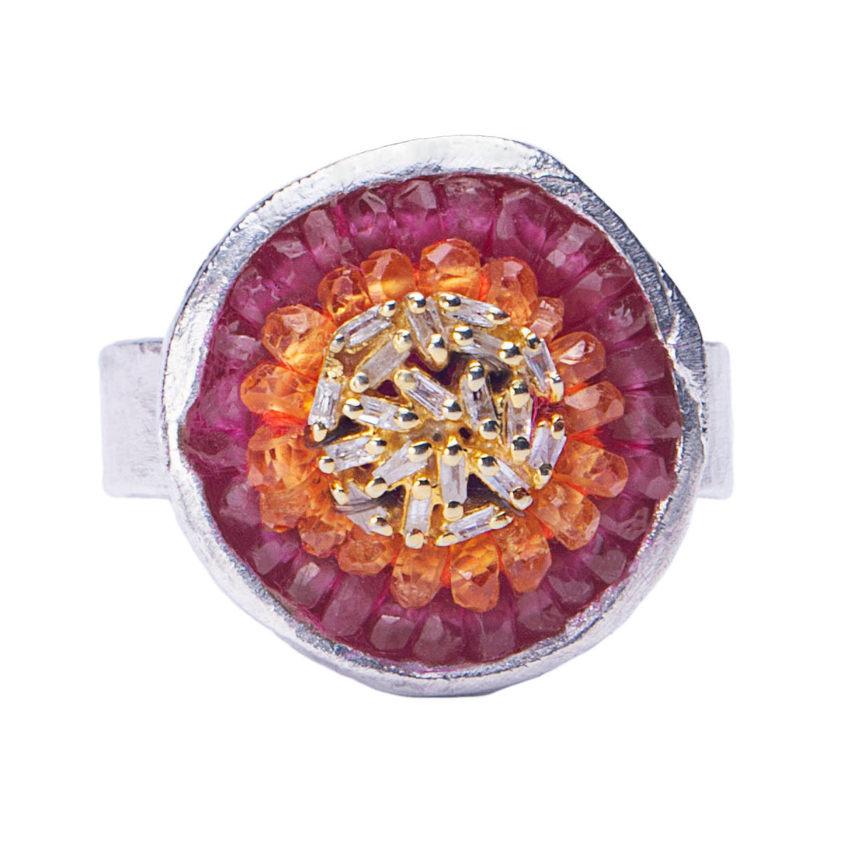 Goddess of Fire Diamond Mosaic Ring