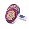Fire & Ice Diamond Mosaic Ring, 19mm (Fire)