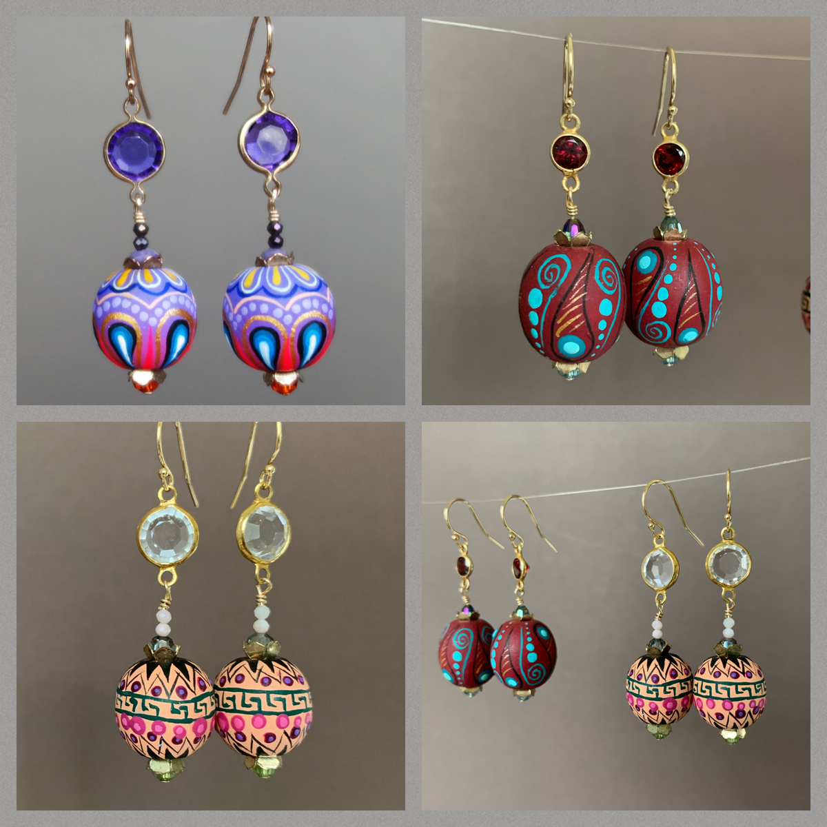 Dios Mio gemstone earrings