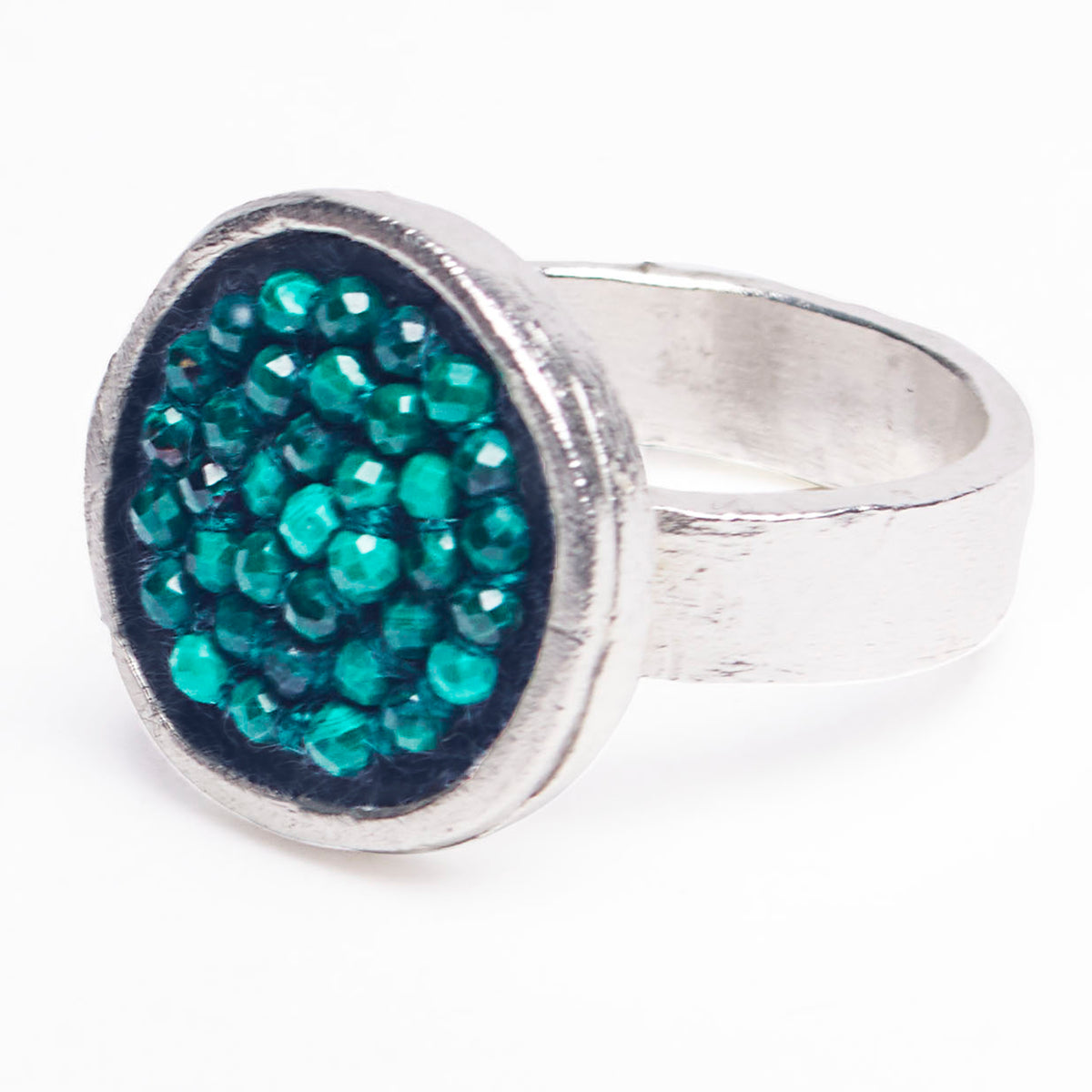 Iconic Malachite Mosaic Ring