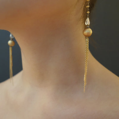 Meet Me at Studio 54 gold chain and opal earring