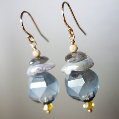 Pearl and Crystal Ethereal Earrings (Wanderlust Paris)