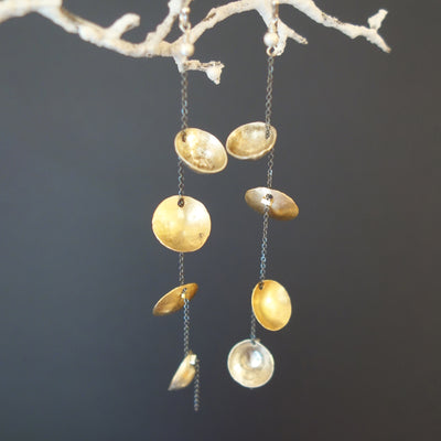 Isn't this a Lovely Day hand hammered gold/silver