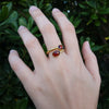 Double Faceted Garnet Ring (adjustable)