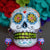 Calavera Colorada earring