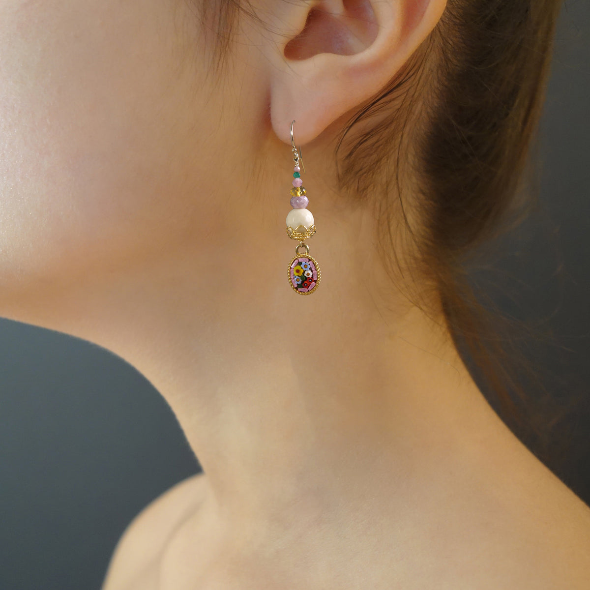 She Gathered her Thoughts: micro-mosaic earrings (Wanderlust Ravenna)