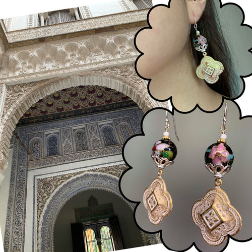 One Night in Alcázar cloisonee earring