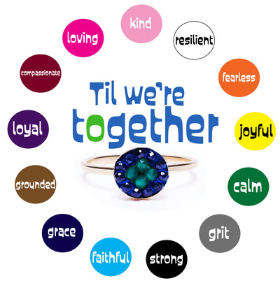 Between 2: Til We're Together Petite Moxie Mosaic ring