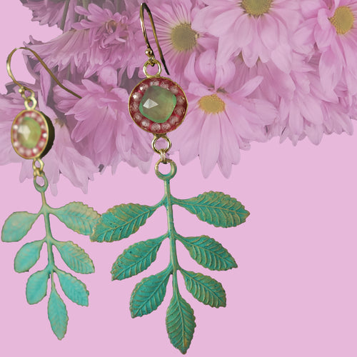 The Garden of your Heart: mosaic earrings