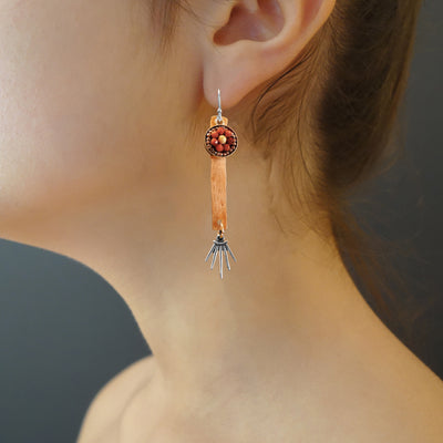 Dazzling Darling: rose gold and sunstone mosaic earring