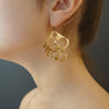 Channeling Ra: hand hammered gold earrings