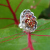 Garnet in Natural Moonstone Mosaic Ring