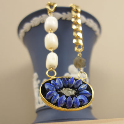 Lapis Lazuli and Black Onyx Necklace