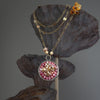 Chocolate Diamond and Pink Sapphire mosaic necklace