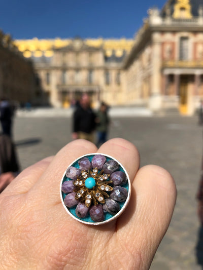 Gold and Diamond Mosaic Ring (Wanderlust Paris)