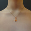 Ruby My Love, You'll be My Love (zircon and ruby necklace)