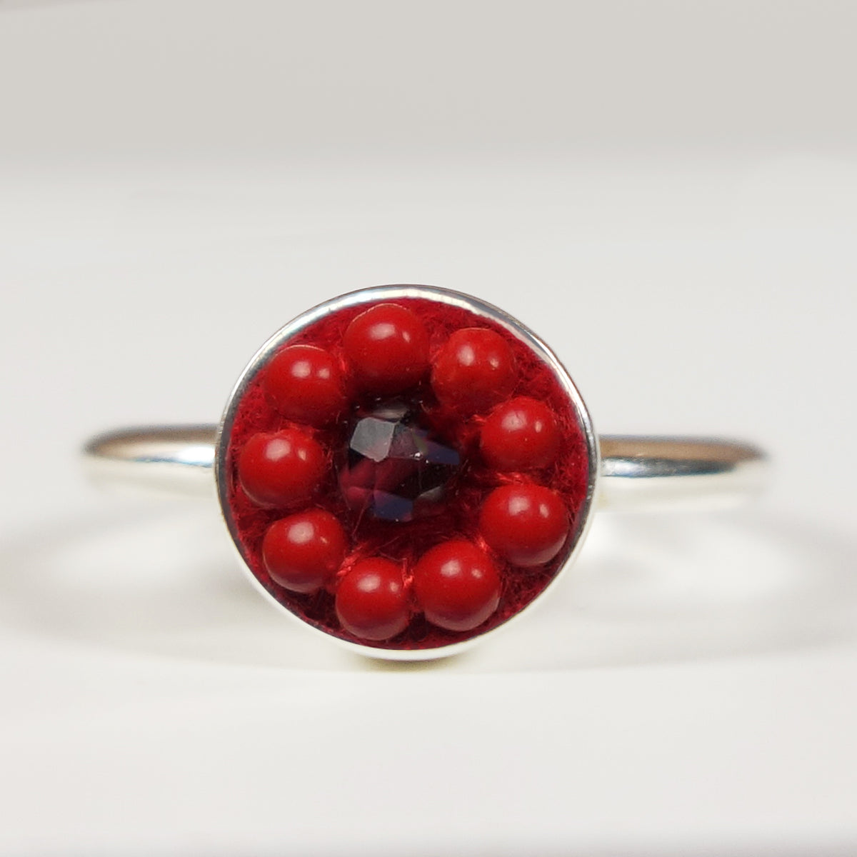Star Spangled mosaic ring