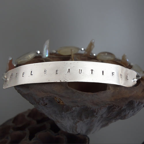 She Wore her Soul on her Sleeve (hand hammered silver bangle)
