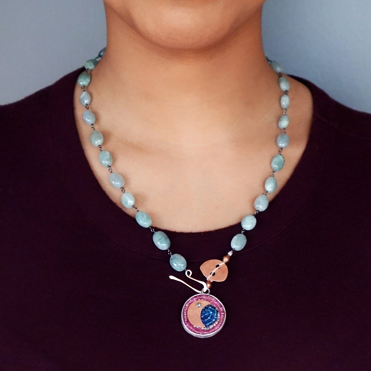 Midnight Moon Dances on the Water Necklace/Bracelet