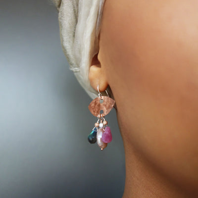 Strike them Fabulous Labradorite and Rhodocrosite Earrings