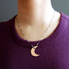 Oh It's a Copper Moon in the Night Sky Necklace