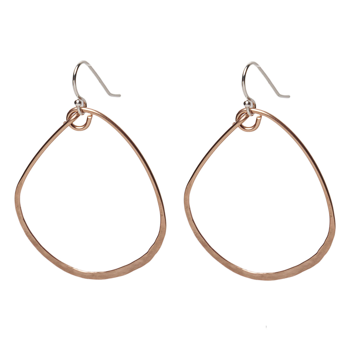 Hand Hammered Rose Gold earring