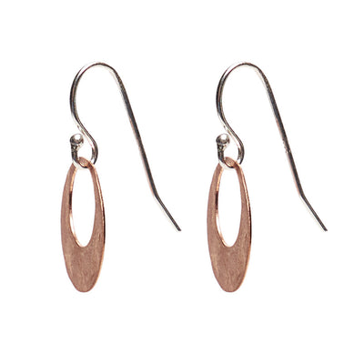 Hand Hammered Copper Hoop earring