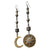 The Sun and the Moon Sing to my Sweet Baby (Greek silver and gold earring)