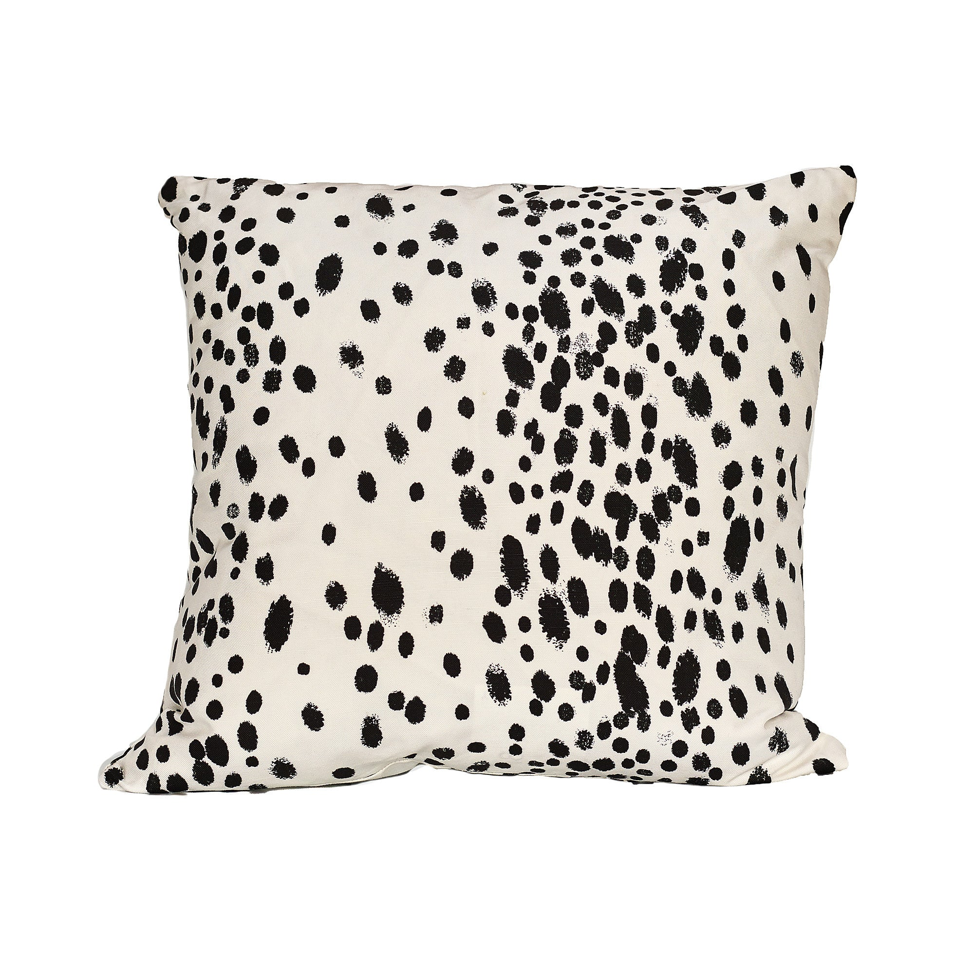 Modern Charcoal Dots Pillow