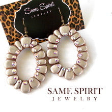 Same Spirit Ring of Fire Earrings Taupe