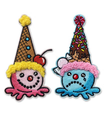 CLOWN CONE iron-on patches