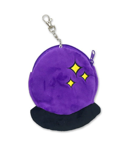 CRYSTAL BALL plush zip pouch