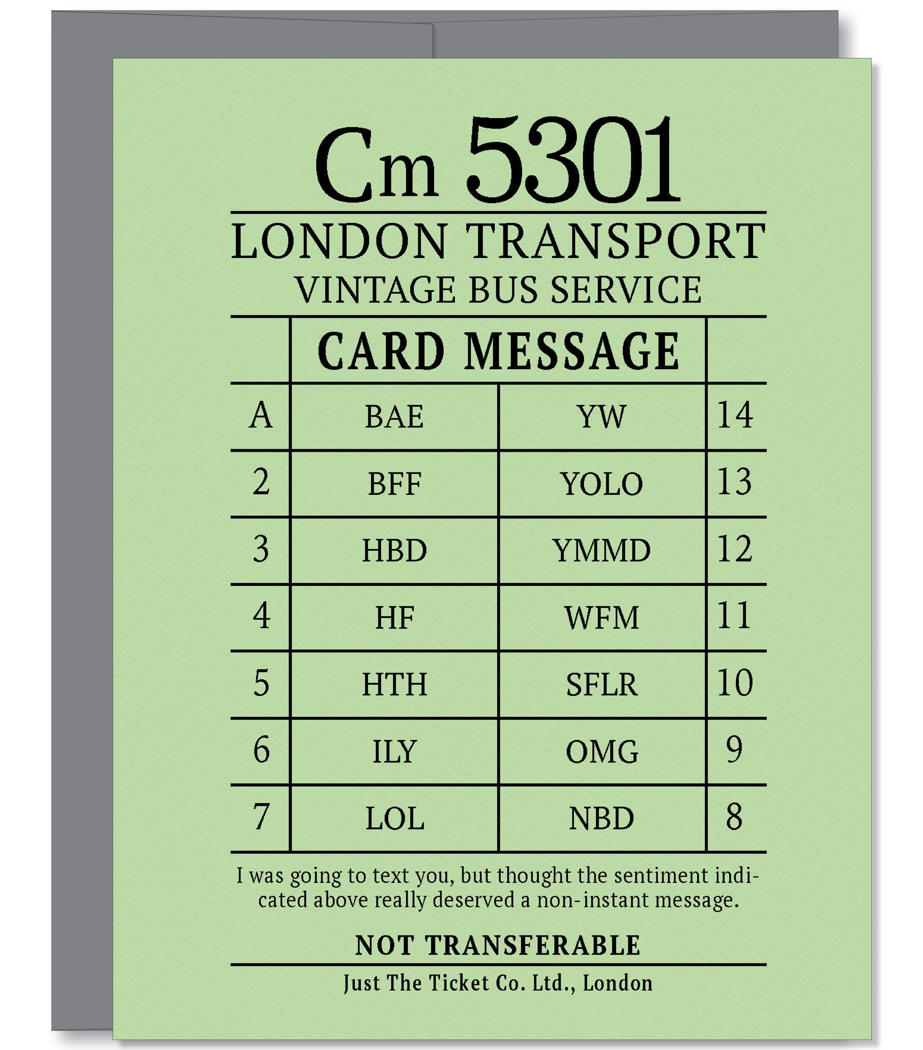 Funny Text Message Abbreviations Greeting Card Distinctive Paper