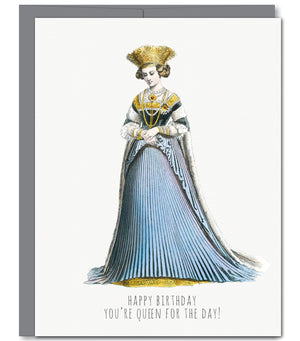 Queen Birthday Glitter Greeting Card | Sylvan Gate Design