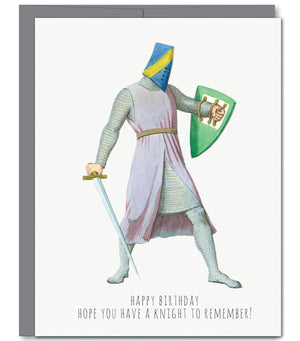 Knight Birthday Glitter Greeting Card | Sylvan Gate Design