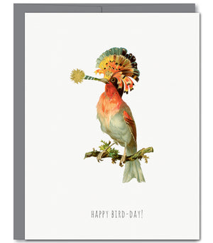 Happy Bird-day Glitter Greeting Card | Sylvan Gate Design