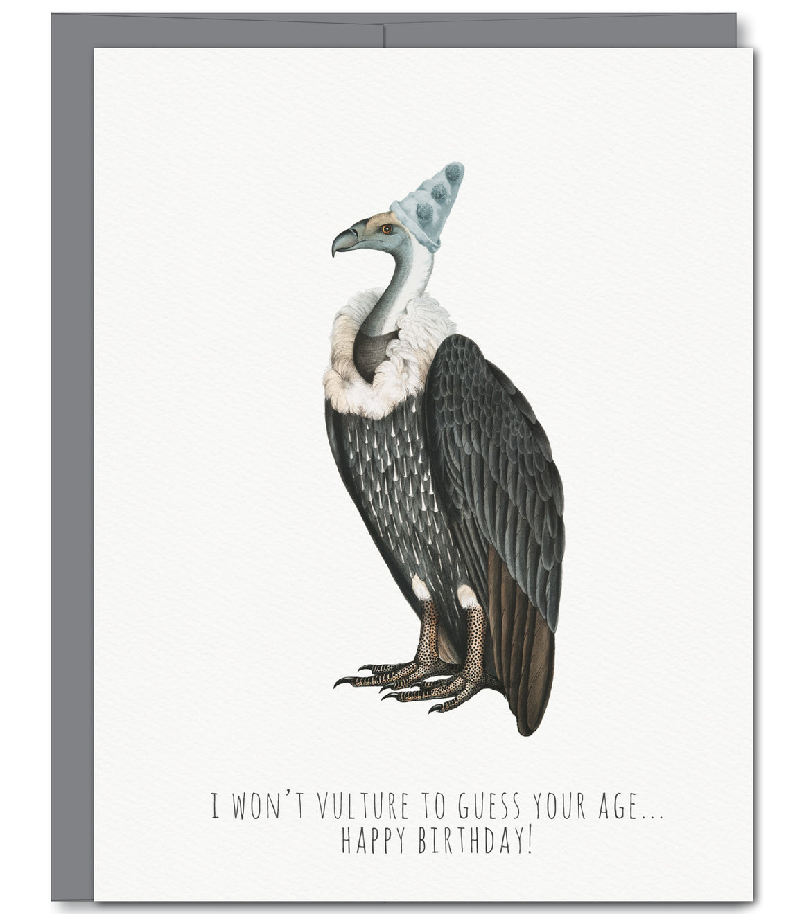 Vulture Birthday Glitter Greeting Card | Sylvan Gate Design